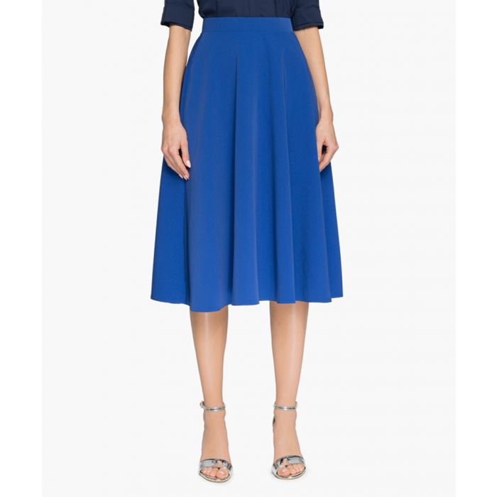 Image for Royal blue midi skirt