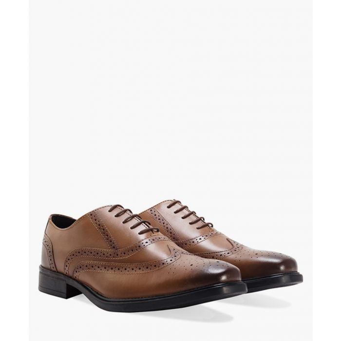 Image for Burnished tan leather Oxford brogues