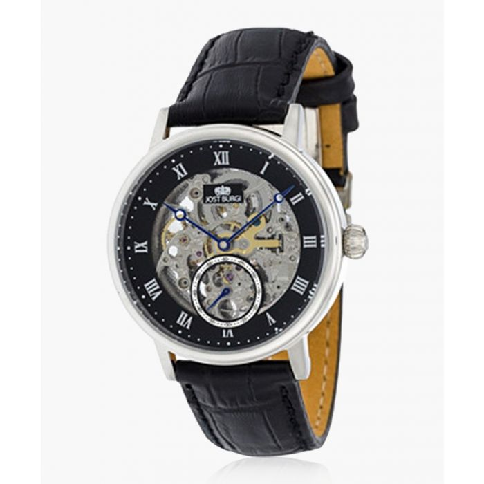 Image for Revone black leather watch