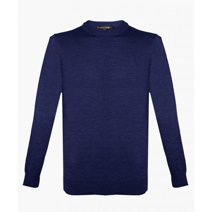 Image for Blue pure wool jumper