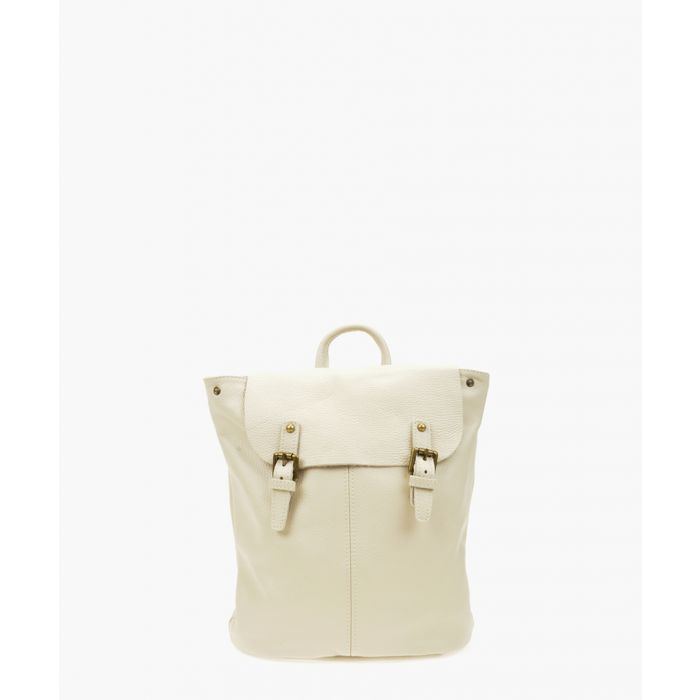 Image for Beige leather backpack