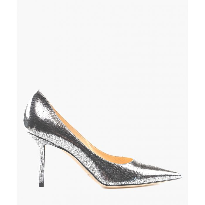 Image for Love 85 silver-tone leather pumps