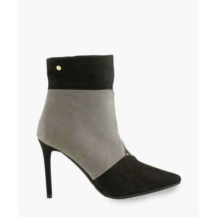 Image for Multi-coloured leather spike heeled boots