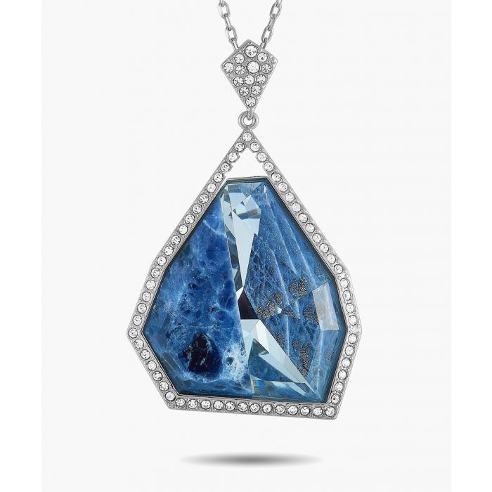 Image for Blue cubic zirconia crystal necklace