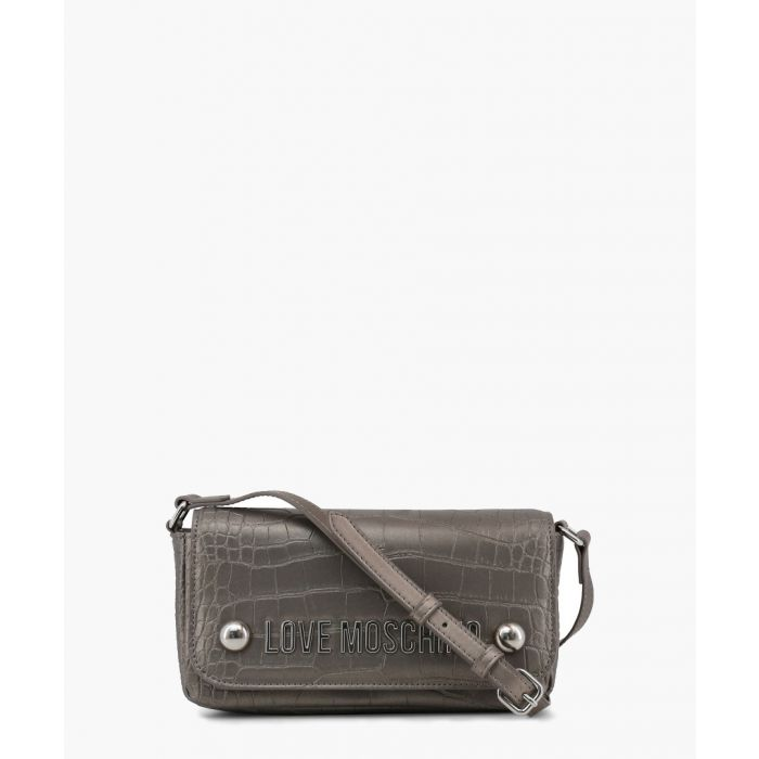 Image for Grey faux-leather crossbody