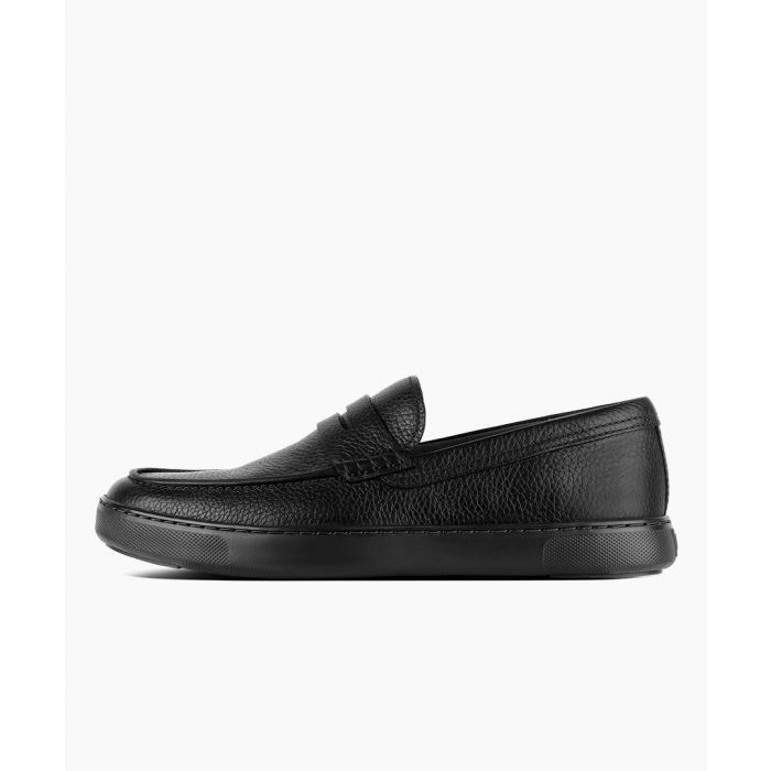 Image for Boston black leather loafers