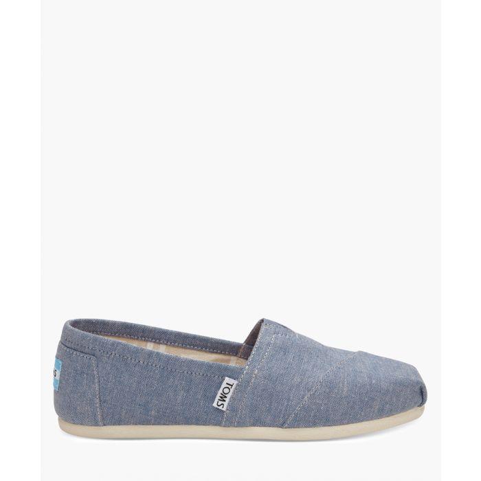 Image for Alpargata blue canvas shoes