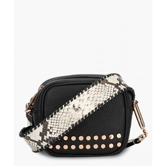 Image for Stud Bowie black leather crossbody