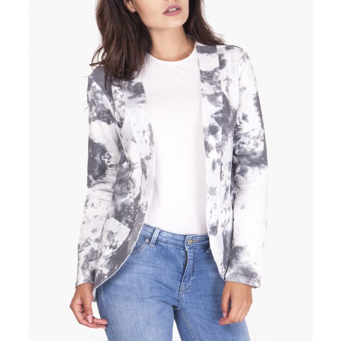 Image for Grey and white pure cotton jacket