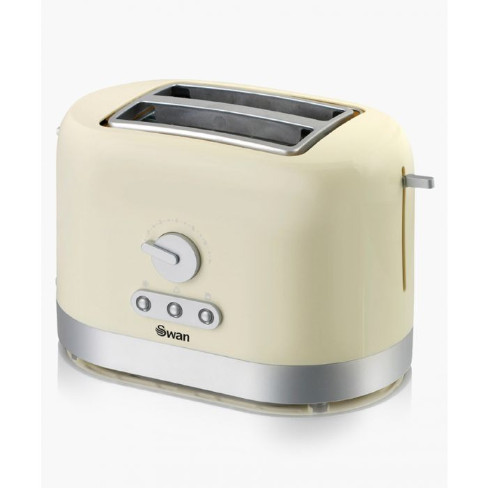 Image for Cream 2-slice toaster