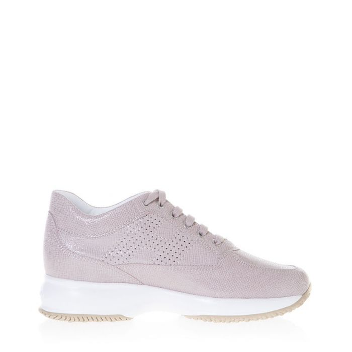 Image for Pink suede snake-effect trainers