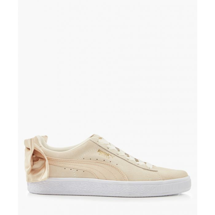 Image for Bow varsity beige suede trainers