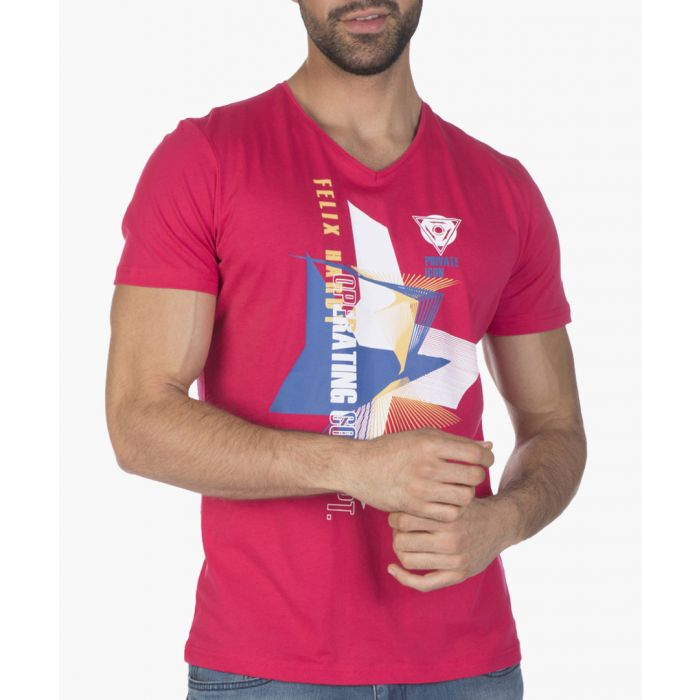Image for Mens pink cotton T-shirt
