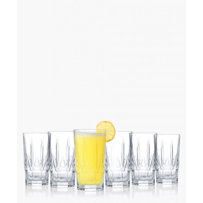 Image for 6pc Chic Luxion Crystal hi-Ball tumbler glasses 520ml