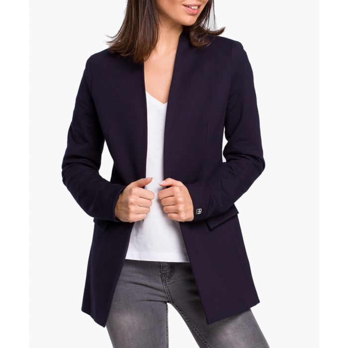 Image for Navy blue cotton blend jacket