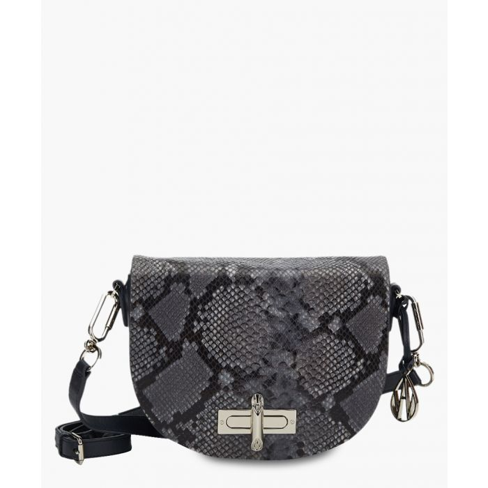 Image for Niven black python-effect crossbody