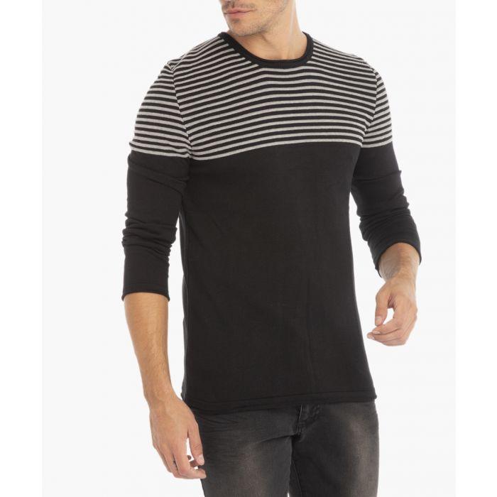 Image for Black melange jumper