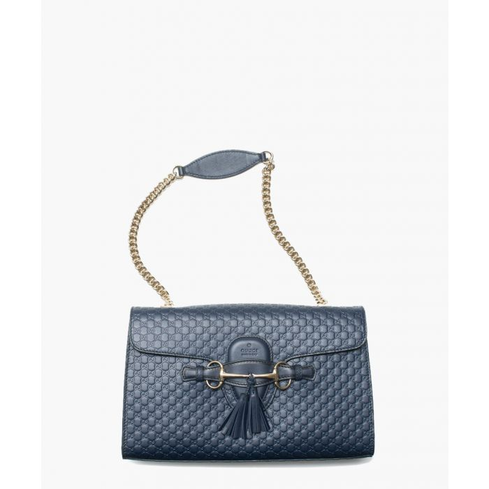 Image for Guccissima Emily navy leather bag