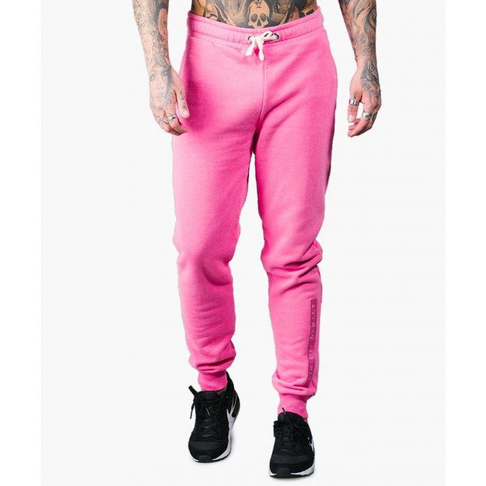 Image for Pink cotton blend joggers
