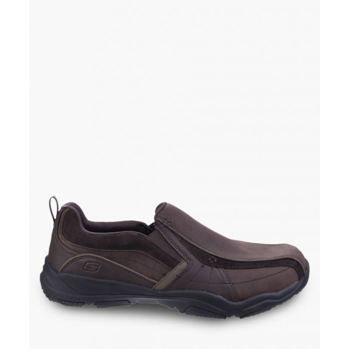 Image for Larson Berto brown slip-on trainers