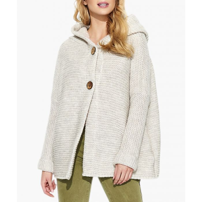 Image for Beige mohair and wool blend knitted sweater