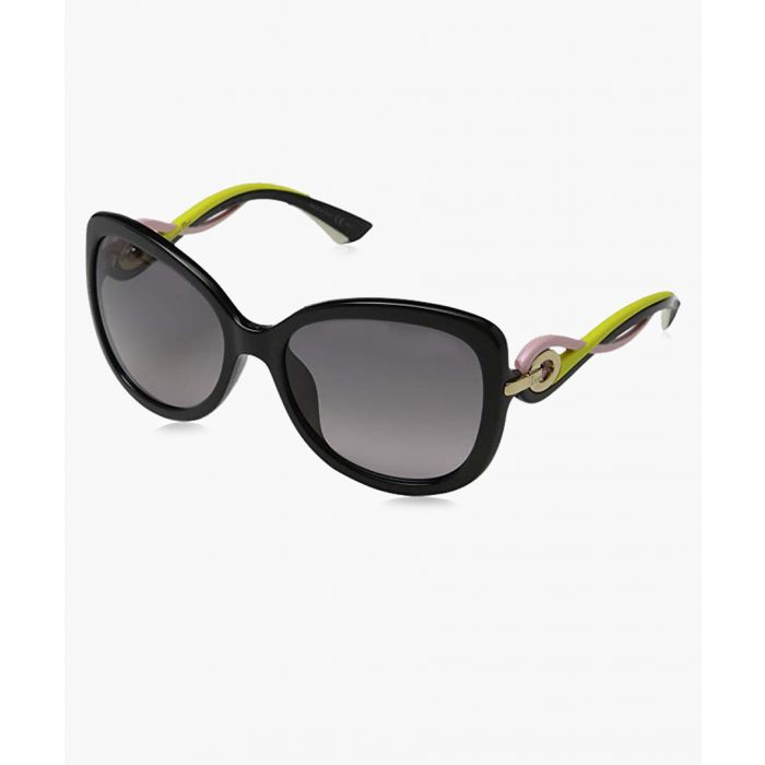 Image for Twisting black and grey square sunglasses