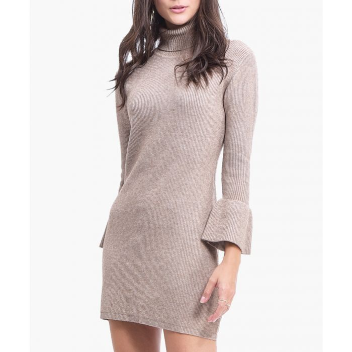Image for Camel cashmere blend dress
