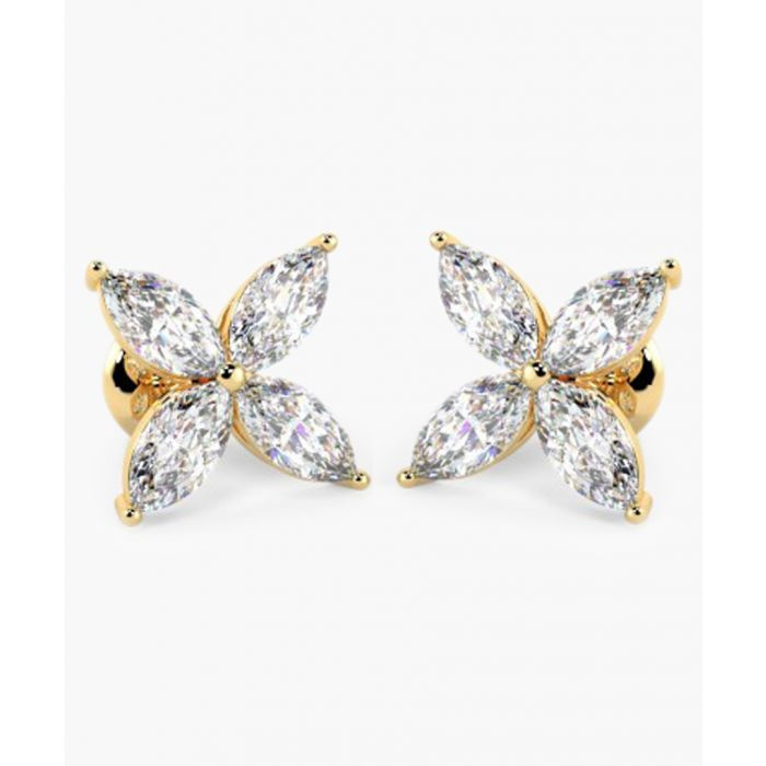 Image for 18k yellow gold and 0.40ct marquise-cut diamond earrings