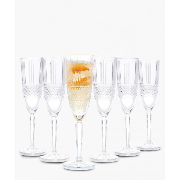 Image for 6pc Brillante champagne flutes 185ml