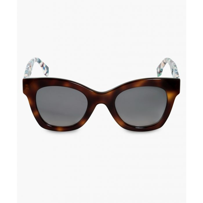 Image for Havana marble and brown gradient sunglasses