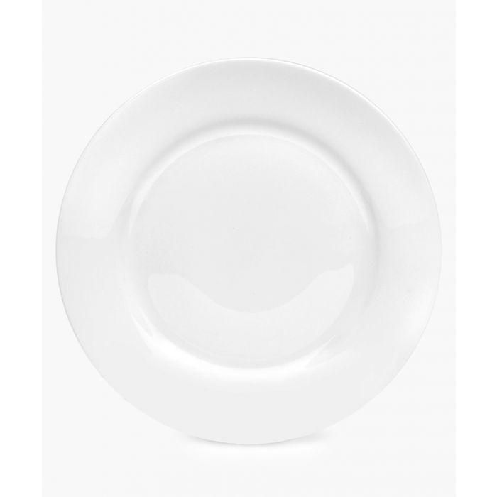 Image for 4pc Serendipity plain white bone china side plates 8