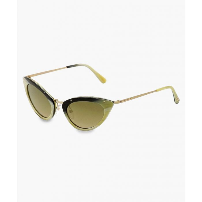 Image for Grace green cat eye sunglasses