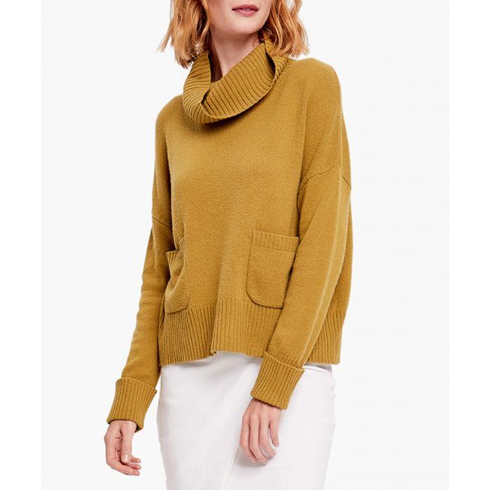 Image for Lemon green merino wool blend jumper