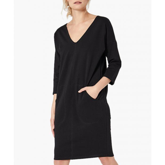 Image for Black straight cut dress
