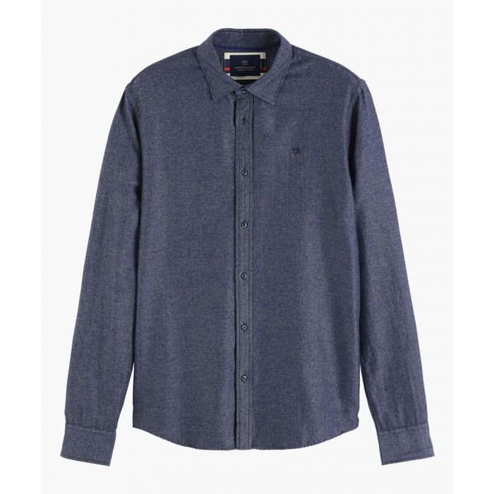 Image for Multi-coloured cotton structured shirt
