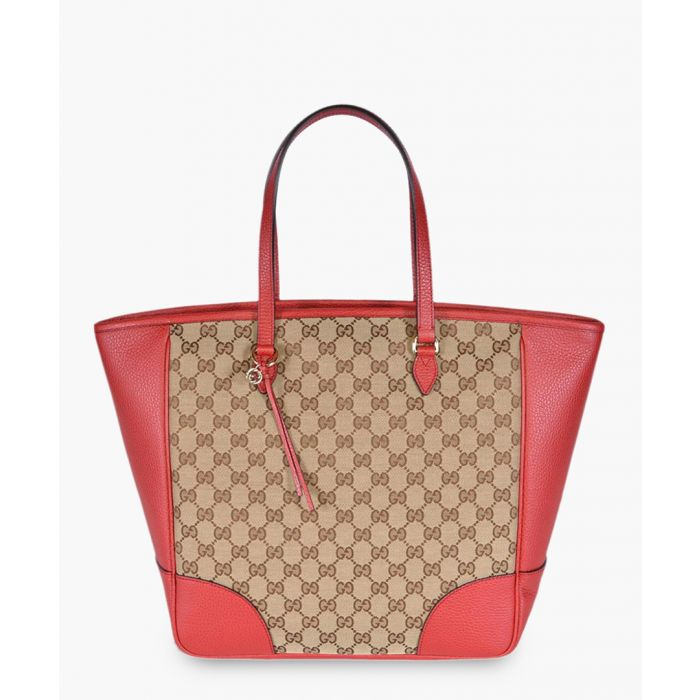 Image for Bree GG canvas and red leather tote