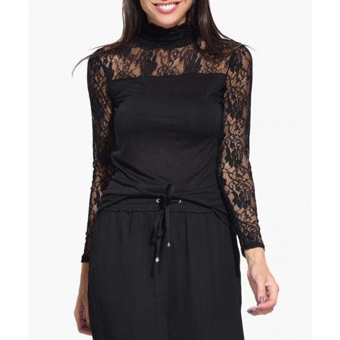 Image for Black silk blend T Shirt
