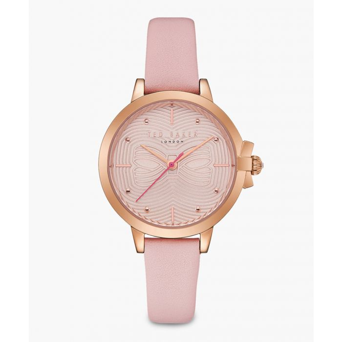 Image for Beth pink leather and stainless steel watch