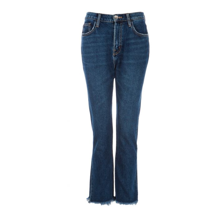 Image for The High Waist blue kick cropped jeans