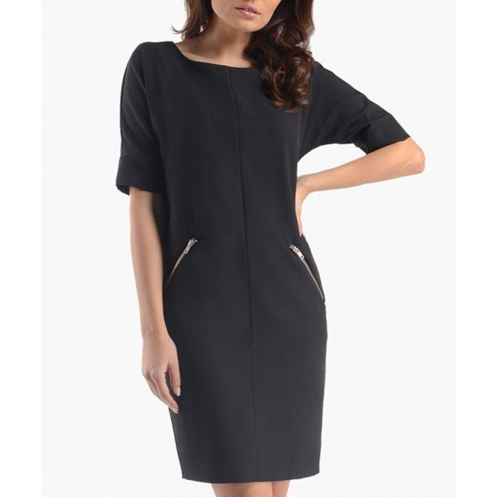 Image for Black zip pocket dress