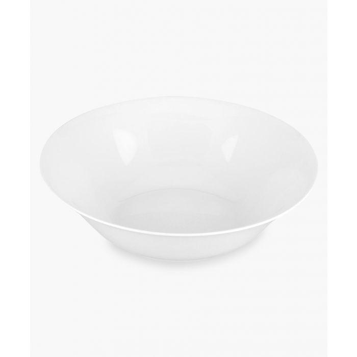Image for Serendipity plain white bone china open veg bowl