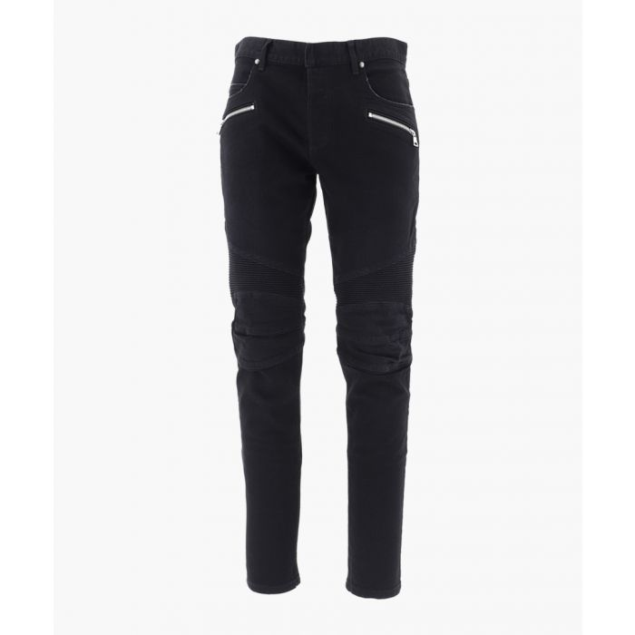 Image for Black stretch cotton jeans