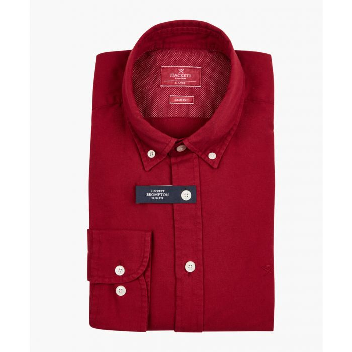 Image for Oxblood button-up shirt