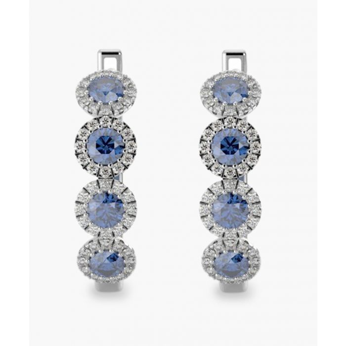 Image for 9k white gold and 0.50ct sapphire and diamond earrings