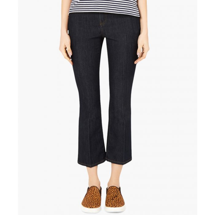 Image for Linna indigo cotton blend flared jeans