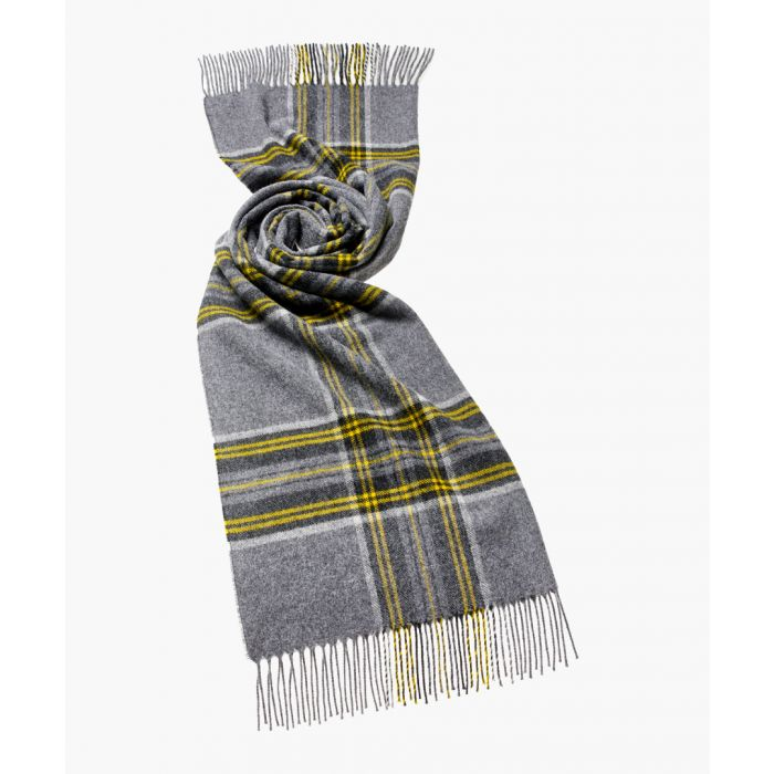 Image for Filey yellow and grey pure wool scarf