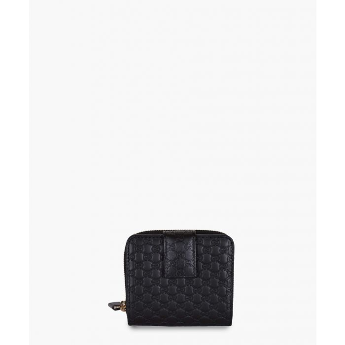 Image for Guccissima black leather short wallet