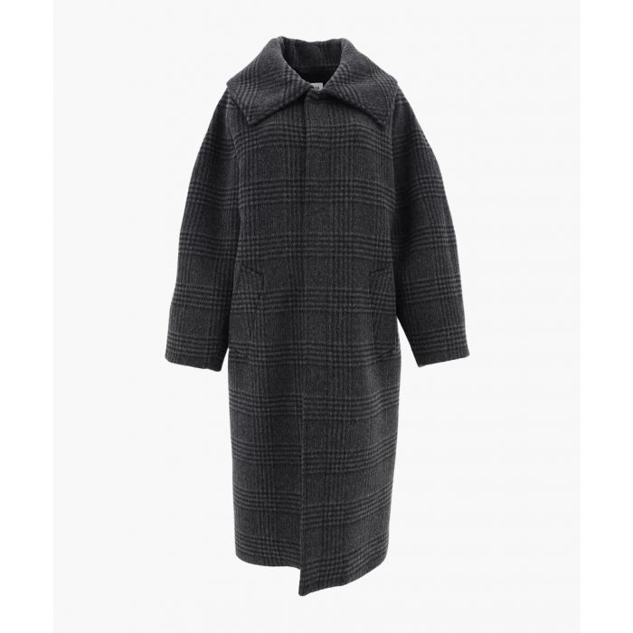 Image for Incognito green virgin wool blend coat