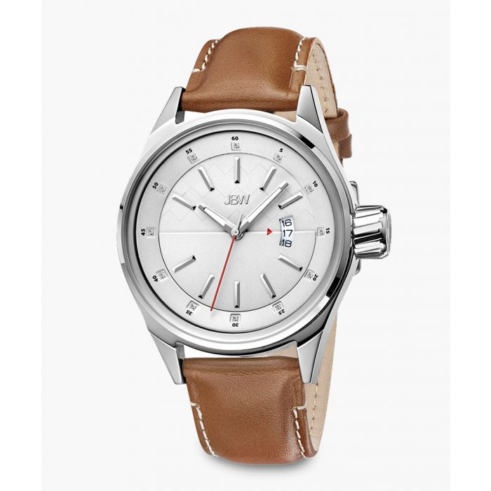 Image for Rook brown leather and stainless steel watch