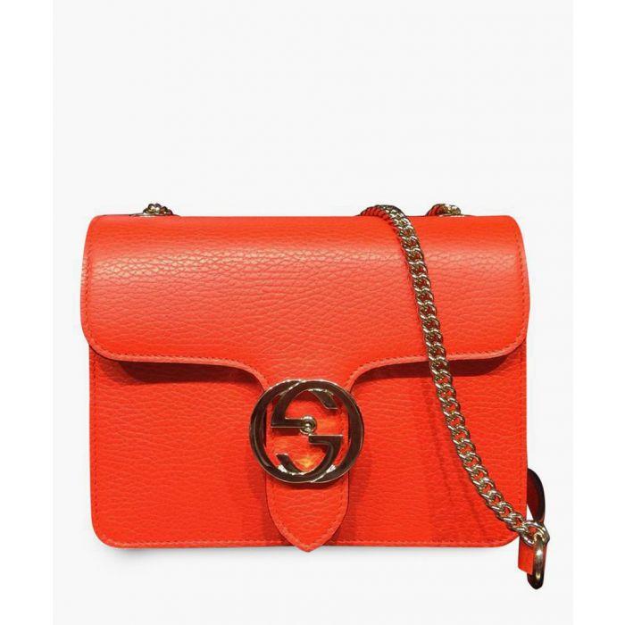 Image for Orange leather interlocking GG shoulder bag